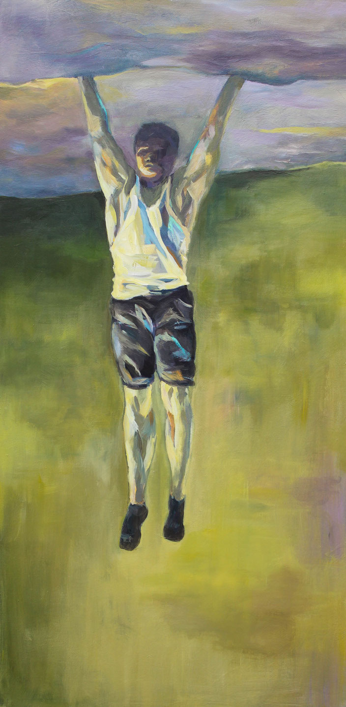 Hang On, Acryl auf Leinwand, 60x120cm