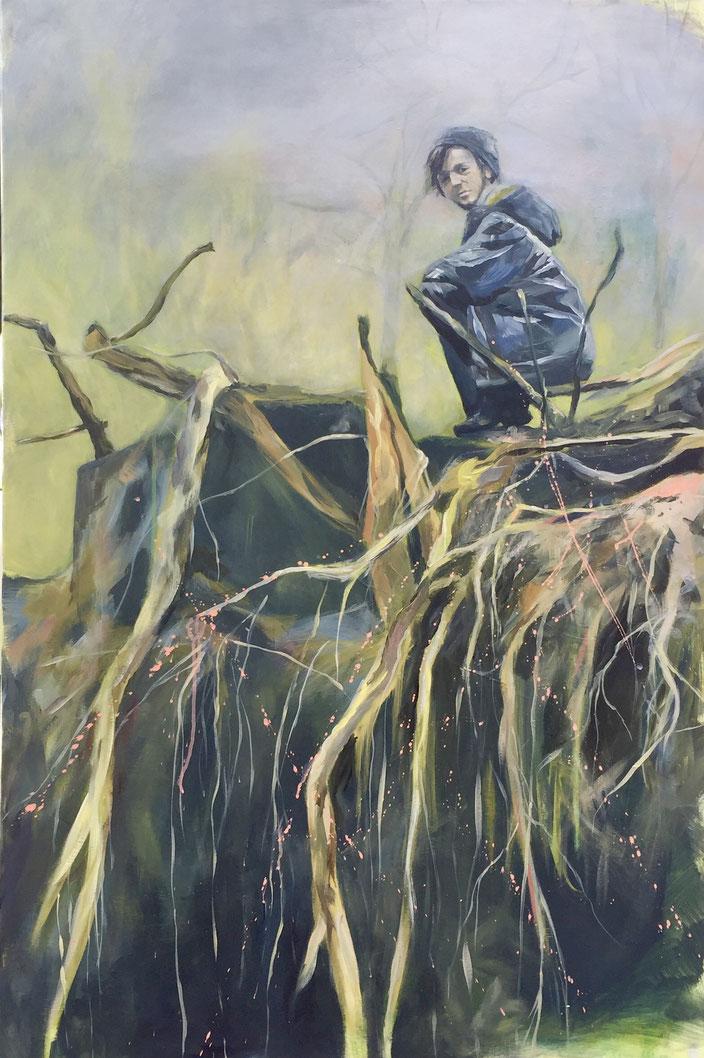 Roots, Acryl auf Leinwand, 120x80cm