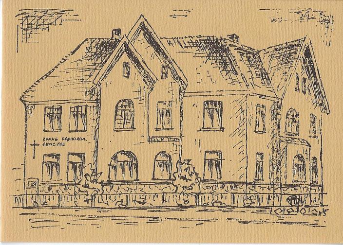 Skizze Gemeindehaus, Baptistengemeinde Waren, Baptisten, Kirche, Kirche Waren, Gemeindehaus, Waren, Waren (Müritz)