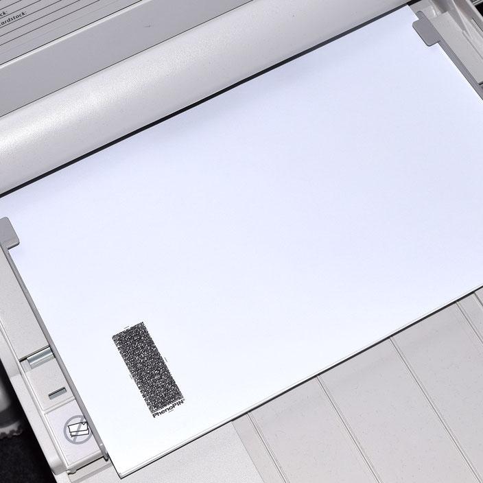 Carta PIN en blanco para laser