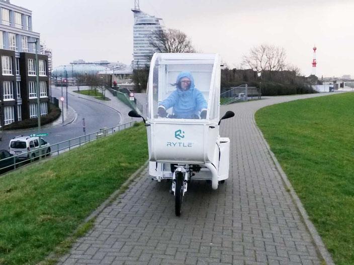 Nachhaltige Crowdlogistik mit dem Lastenrad, Foto: Hochschule Bremerhaven