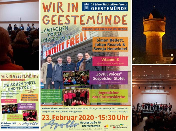 Flyer: Stadtteilkonferenz Geestemünde, Fotos: Andre Kleinhanns