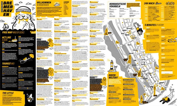 Der neue USE-IT Bremerhaven Stadtplan (Ann-Kristin Hitzemann und Janina Freistedt)