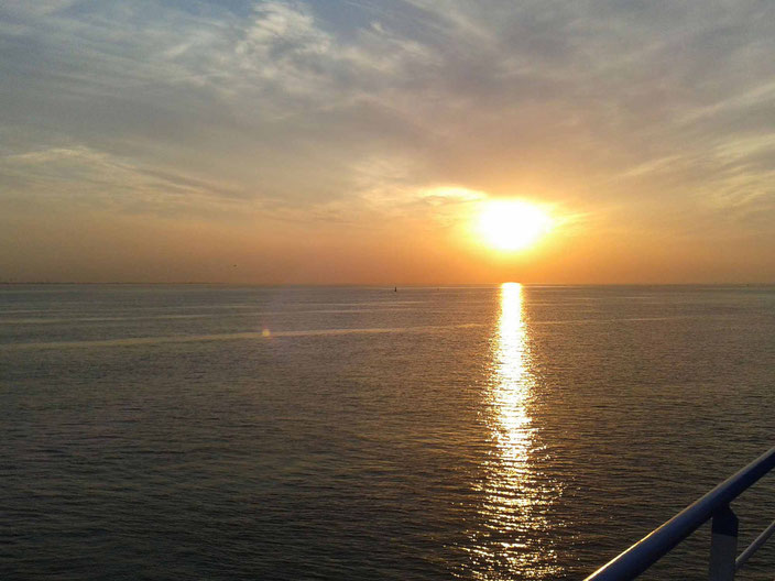 Perfekter Sonnenuntergang Bremerhaven, Foto: Andre Kleinhanns