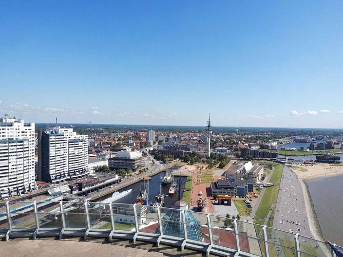 Über den Dächern Bremerhavens, Foto: Andre Kleinhanns