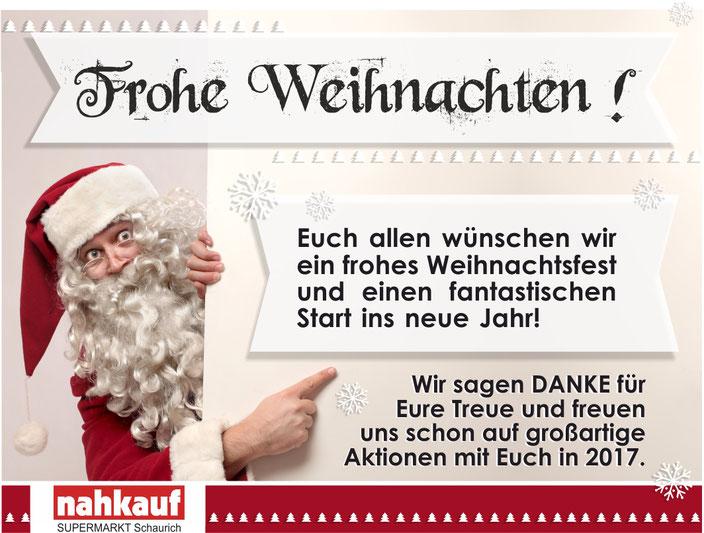 Nahkauf Fulda Supermarkt Schaurich _ Wir wünschen frohe Weihnachten!