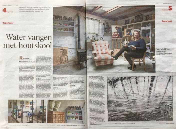 Philine van der Vegte in Noordhollands Dagblad 15 april 2017