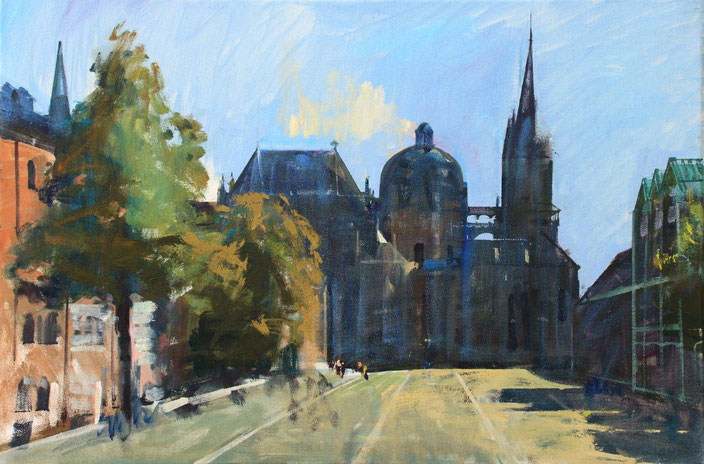 """Aachen - Dom"", 60 cm x 40 cm"
