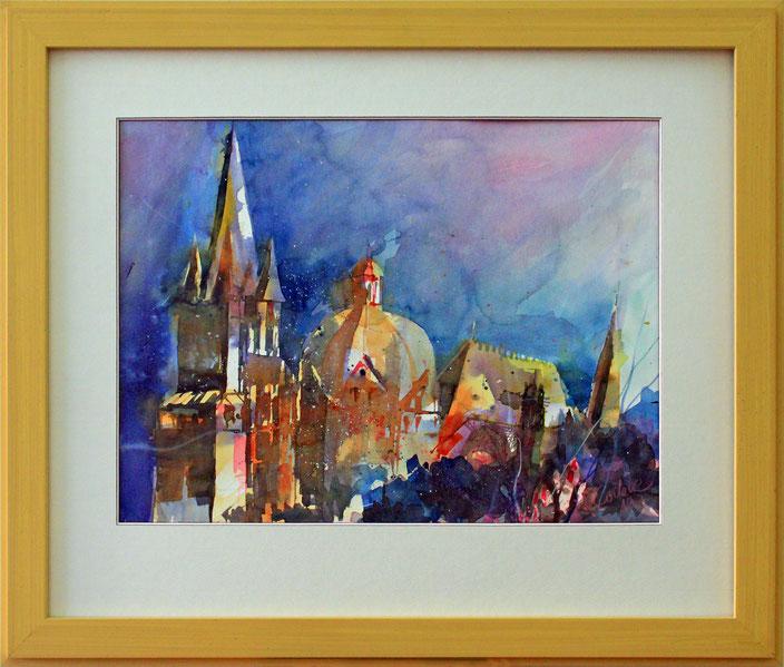 """Aachen - Dom"" (Aquarell), 60 cm x 50 cm"