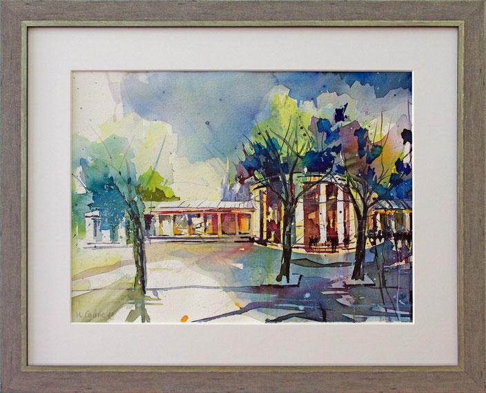 """""""Aachen - Elisenbrunnen"""" (Aquarell), 50 cm x 40 cm"""
