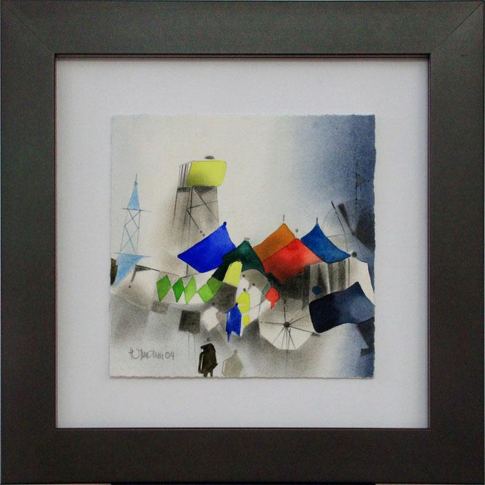 """Markttag"" (Aquarell), 30 cm x 30 cm"