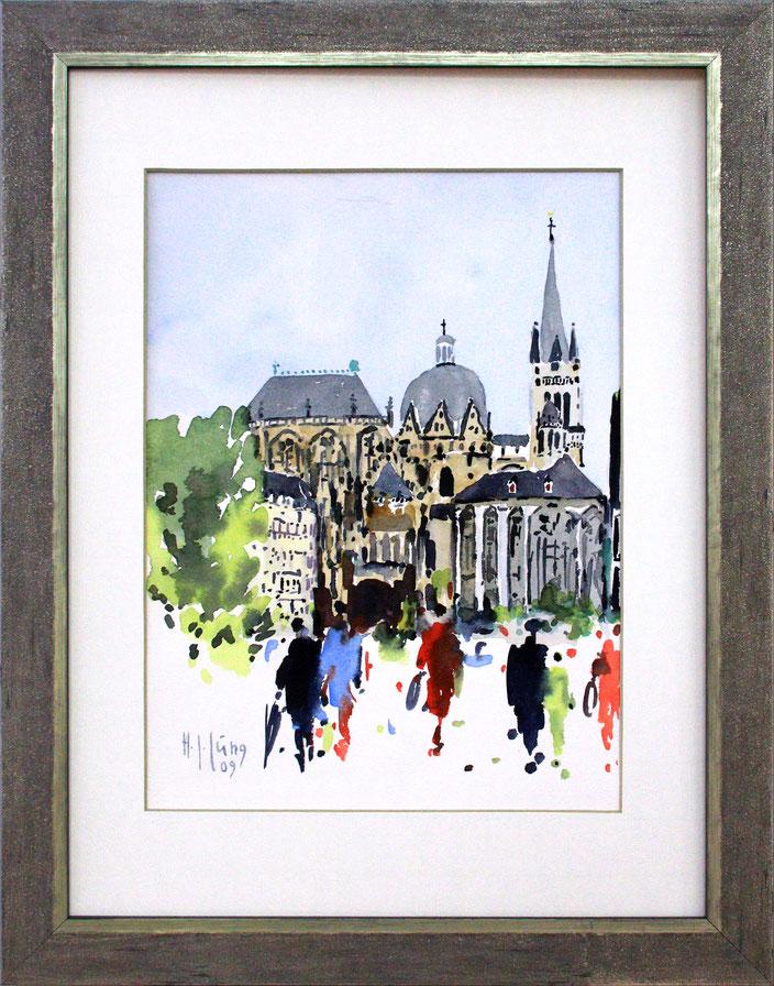 """Aachener Dom"" (Aquarell), 30 cm x 40 cm"