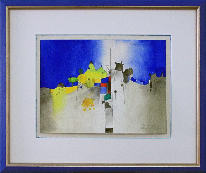 """Häuser"" (Aquarell), 60 cm x 50 cm"