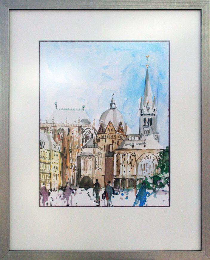 """Aachener Dom"" (Aquarell), 40 cm x 50 cm"