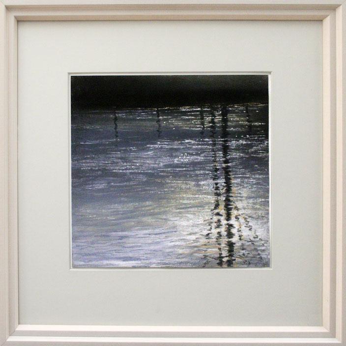 """""""Fluss-Spiegel Wurm"""" (Pastell), 40 cm x 40 cm"""
