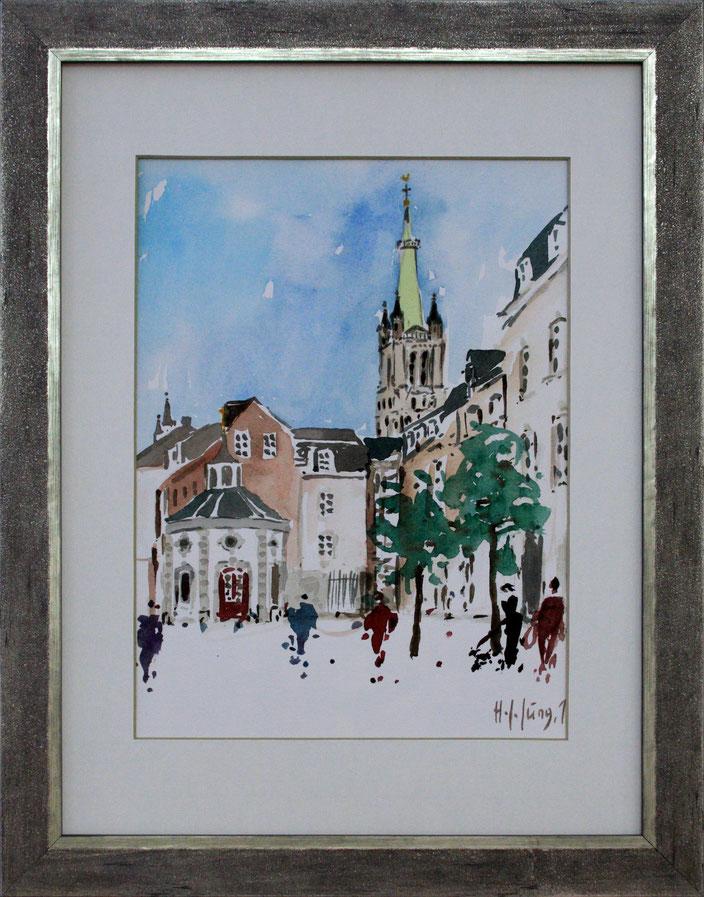 """Roskapelle mit St. Jakob"" (Aquarell), 30 cm x 40 cm"