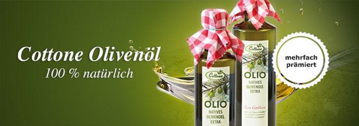 Gesund Leben - Kochen und Essen mit hochwertigen qualitativen exzellenten feinen Olivenölen aus Sizilien Cottone olio extravergine d'oliva della Sicilia exclusive bei Home Art Austria