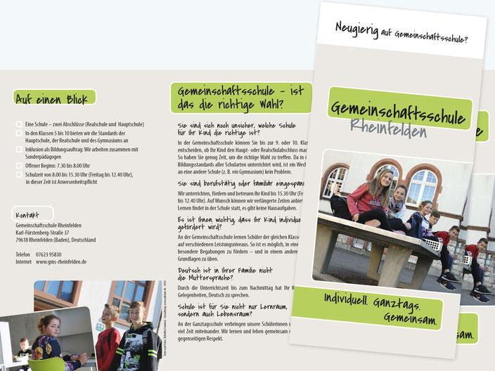 Gemeinschaftsschule Rheinfelden Infofolder