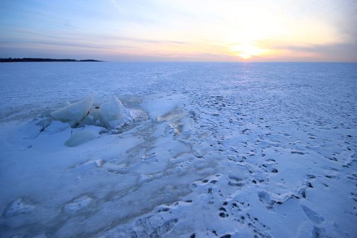 die zugefrorene Ostsee in Litaun