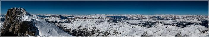 Blick von der Marmolata (3340m)