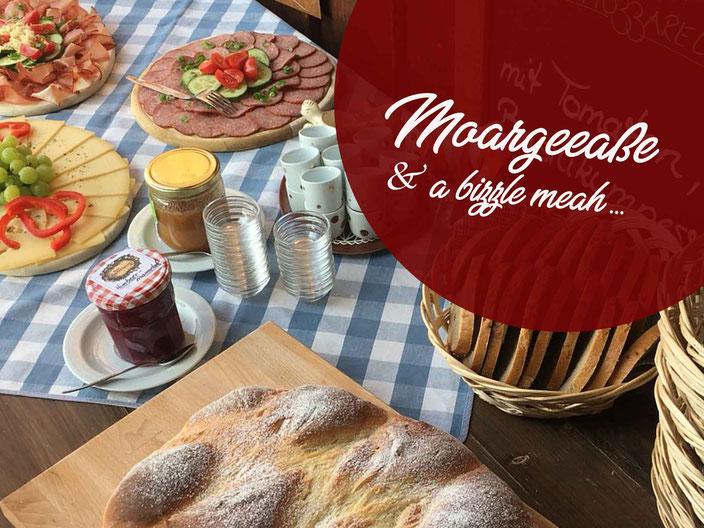 Alpe Osterberg – Frühstück am Dienstag, Moargeeaße und a bizzele meah!