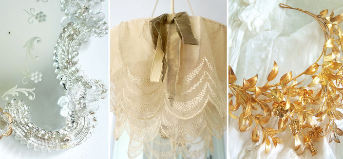 Antike Spiegel, antike Textilien, antiker Brautschmuck von Maisondora