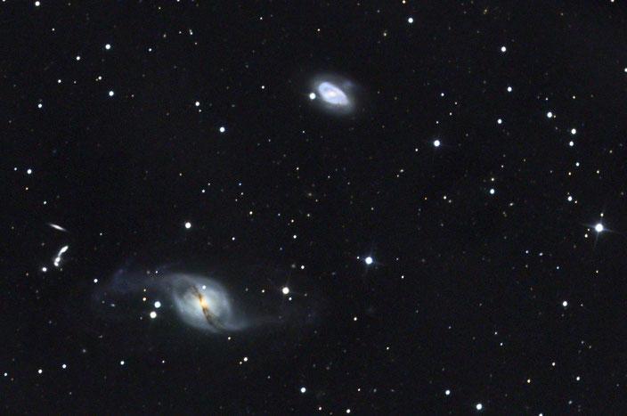 Die Galaxie NGC3718 im Sternbild Ursa Major - aufgenommen am 19. und 20.  April 2018 in der Sternwarte Flumenthal. Luminanz 24x600s ungebinnt, -25Grad mit Darks und Flats - RGB je 7x300s 2x2 gebinnt mit Darks und Flats