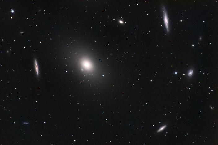 M86 - aufgenommen am 24., 25., 26. und 27 Februar 2019 in der Sternwarte Flumenthal (14x900s LUM)