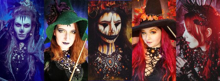 Gothic-, Fantasy- und Steampunkmodels mit Colliers und Haarschmuck von Bloody Brilliants