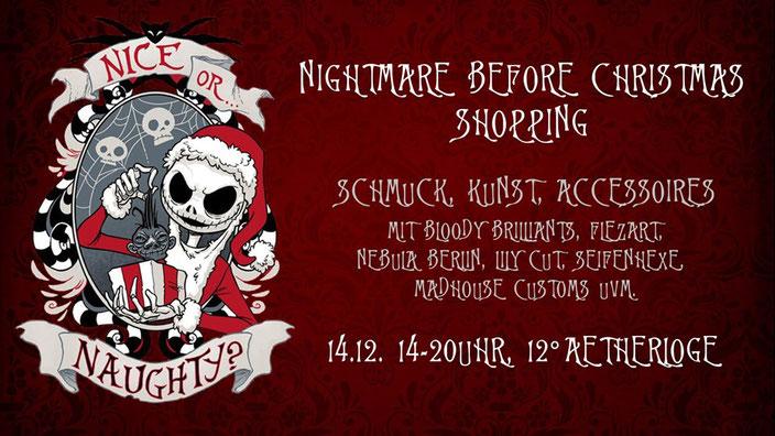 Nightmare before Christmas Shopping, independent Weihnachtsmarkt in Berlin am 14.12.