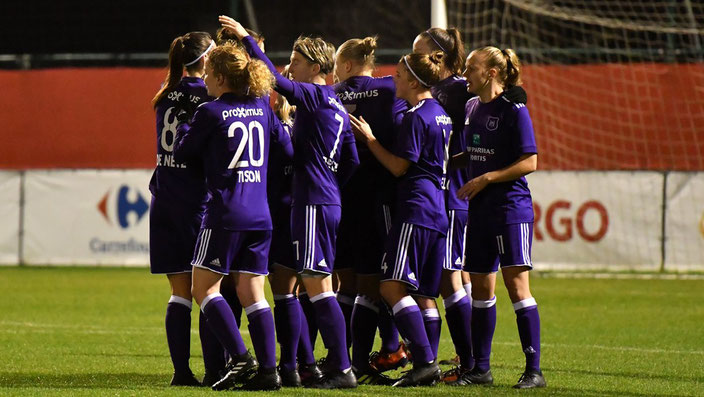 Anderlecht Women Goal Celebration