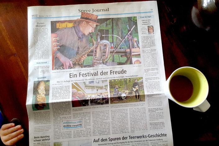 Märkische Oderzeitung Bericht: Mara Kämmel 08.05.2017
