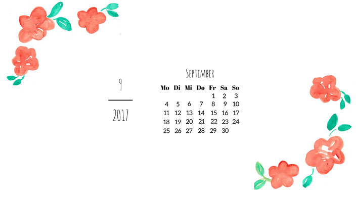 September Wallpaper Blumen
