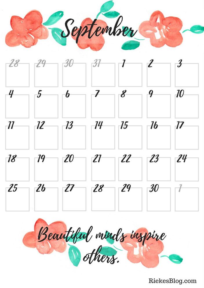 Monatsplan September