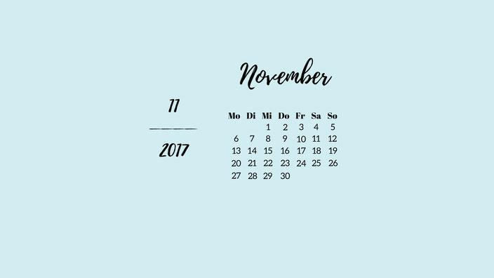 November Wallpaper pastellblau