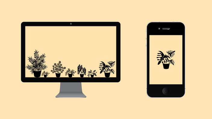 Urban Jungle Wallpaper Desktop und Handy Design 3