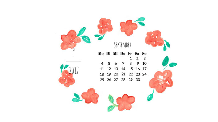 September Wallpaper Blumenkranz