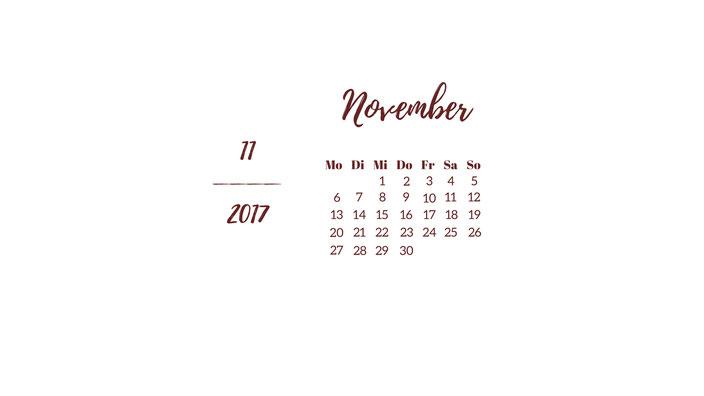 November Wallpaper weiß