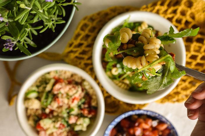 Veganer Nudelsalat RiekesBlog