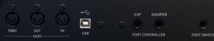keyboard rear panel