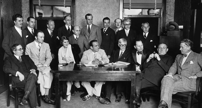 Eighteen of the thirty-six founders of the Academy of Motion Picture Arts and Sciences in 1927.