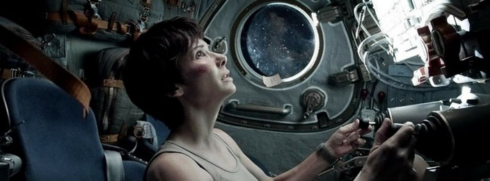 Sandra Bullock is stranded in Gravity