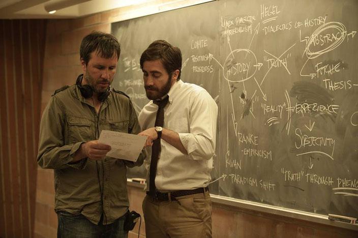 Denis Villeneuve With Jake Gyllenhaal On The Set Enemy