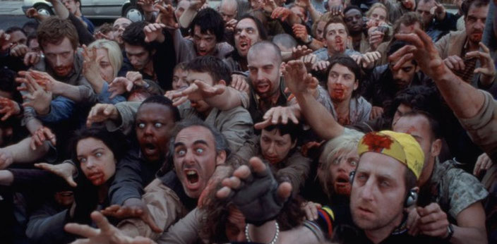 The Zombies In Shaun Of The Dead