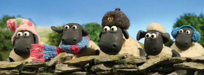 Shaun The Sheep and some woolly friends