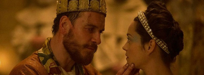 Micheal Fassbender and Marion Cotilard in Macbeth