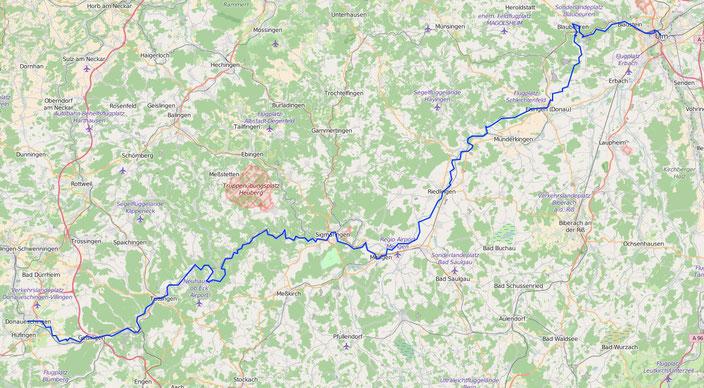 Donauradweg Ulm Passau Karte.2012 Donauradweg Von Donaueschingen Nach Ulm Der