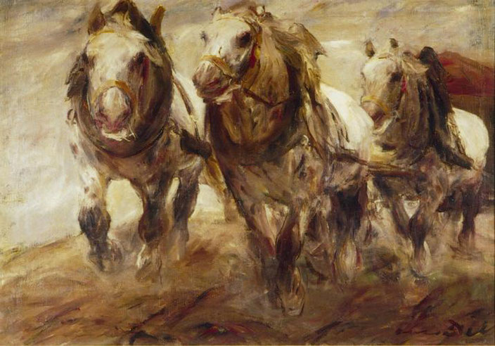 Vierspänner. Dills Pferde-Porträts gehören zu den wohl ausdrucksstärksten Gemälden des Dürkheimer Ehrenbürgers. Foto: Otto-Dill-Museum, Neustadt an der Weinstraße