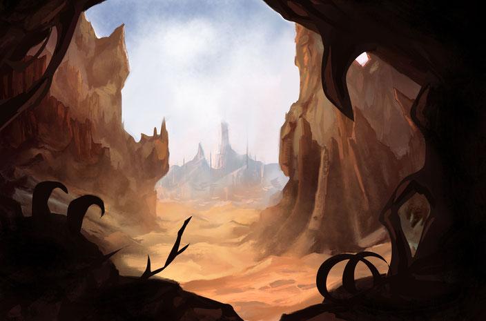 mysterious desert city