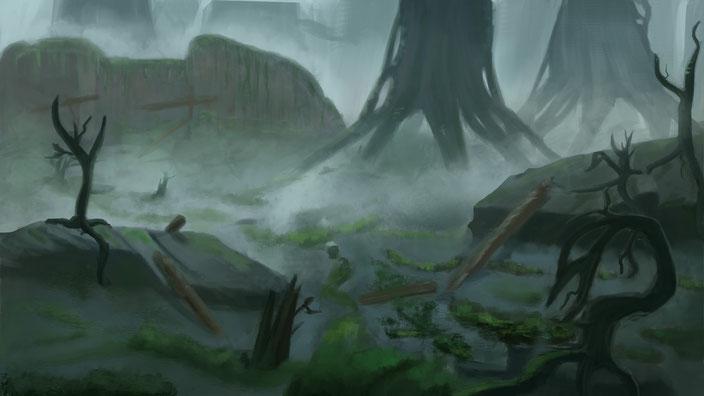 Swamp near Skite